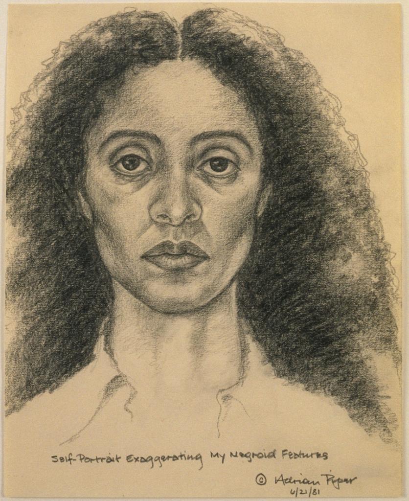 AdrianPiper1981Self-Portrait_Exaggerating