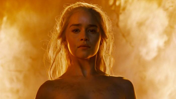 Daenerys burning