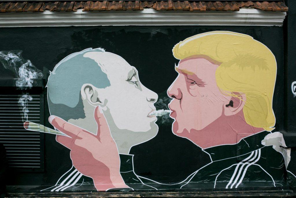 Street artist and graphic designer Mindaugas Bonanu,